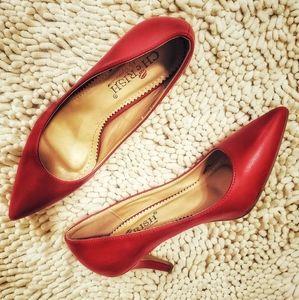 Cherish Red Pointed Toe Heels